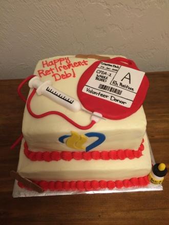 Hospital retirement cake