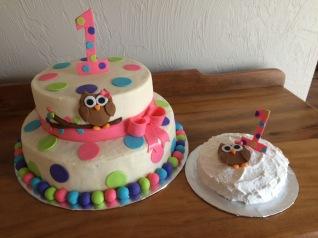 Matching birthday and smash cake