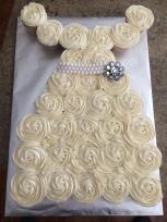 Bridal shower pull apart cupcake cake!