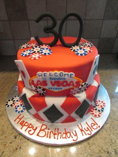 Las Vegas birthday cake!
