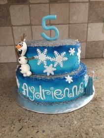 Frozen birthday cake!