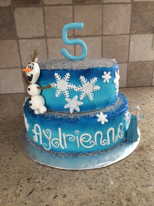 Frozen birthday cake!